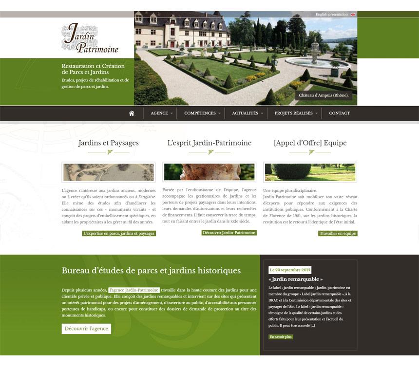 Site Internet Jardin Patrimoine Webdesign