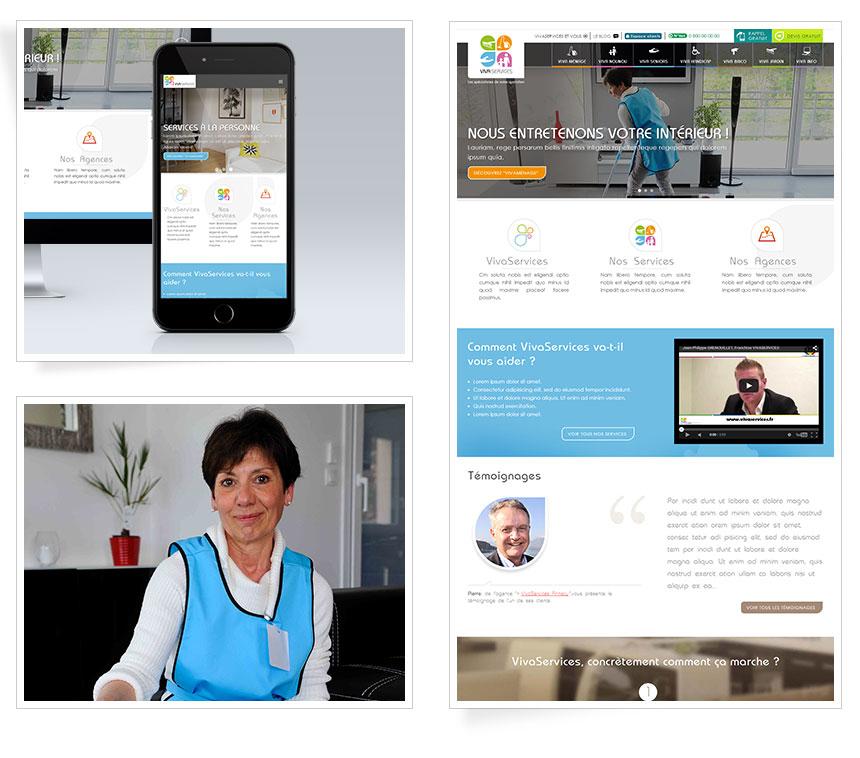 Webdesign site Internet