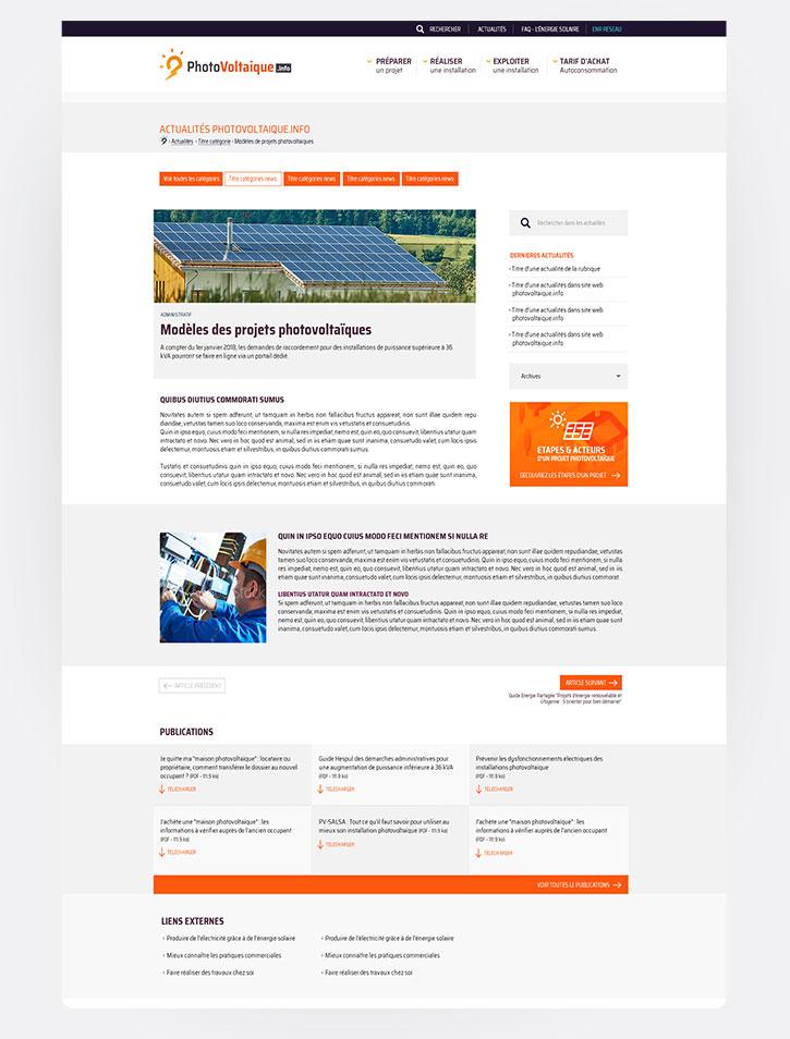 Webdesign : Photovoltaique.info